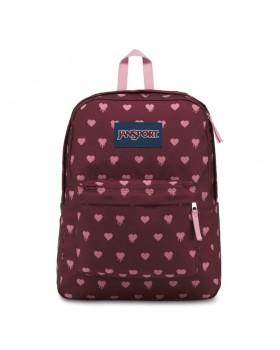 JanSport Superbreak Backpack Russet Red Bleeding Hearts