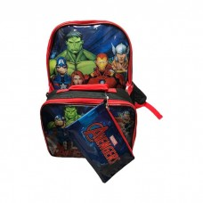 Marvel Avengers 3-Piece Backpack Set with Lunch Bag