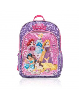 "Disney Princesses Belle, Cinderella, Jasmine School Backpack 15.5"" Full Size"
