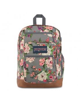 JanSport Cool Student Backpack Grey Bouquet Floral