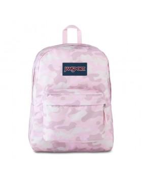 JanSport Superbreak Backpack Cotton Candy Camo