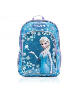 "Disney Frozen Elsa and Glittery Snowflakes School Backpack 16"" Full Size"