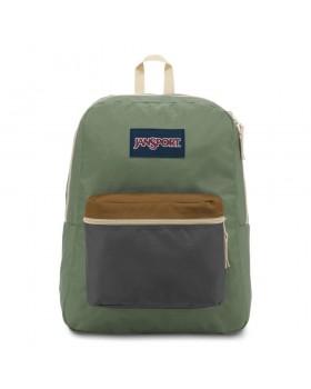 JanSport Exposed Backpack Soft Tan/ Limeade