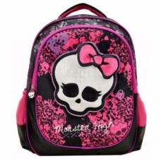 Mattel Monster High Deluxe 3D Plush Velvet Backpack Bag Black / Pink