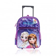 "Disney Frozen Elsa and Anna Wheeled Backpack with Retractable Handle 16"" Full Size"
