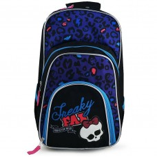 Mattel Monster High Freaky Fab Deluxe Backpack School Bag Black / Purple
