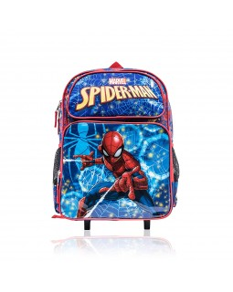 "Marvel Spiderman Wheeled 16"" Backpack with Retractable Handle 16"" Full Size"