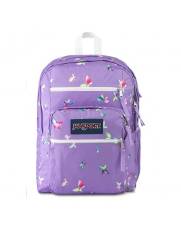 JanSport Big Student Backpack Purple Dawn Butterfly Kisses