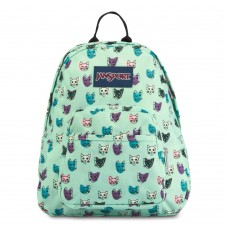 JanSport Half Pint Mini Backpack Brook Green Cool Cats