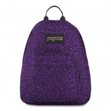 JanSport Half Pint Mini Backpack Purple Leopard Life