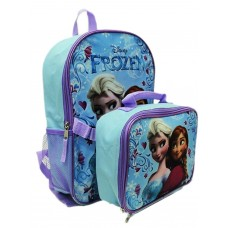 Disney Frozen Anna Elsa Backpack with Detachable Insulate Lunch Kit 15'' Full Size