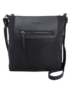 Roots 73 Nylon Crossbody With PU Trim Handbag Black