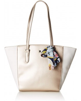 David Jones Paris Tote Handbag White Gold