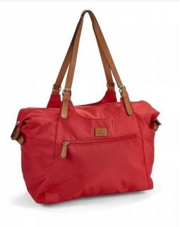 Roots 73 Nylon Shoulder Handbag Red