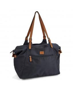 Roots 73 Nylon Shoulder Handbag Navy