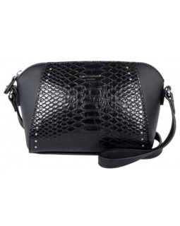 David Jones Paris Mini Crossbody Crock Mock Handbag Black
