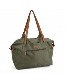 Roots 73 Nylon Shoulder Handbag Khaki