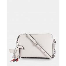 Joanel Parrot Pink Crossbody Bag Cream