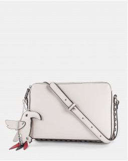 Joanel Parrot Pink Crossbody Bag Cream