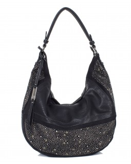 KGB Studio Beaded Hobo Bag Convertible Crossbody Alex Black