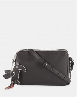 Joanel Parrot Pink Crossbody Bag Black