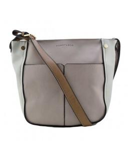 KGB Two Tone Shoulder Handbag Sarah Convertable Crossbody Dusty Rose Cream