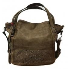 KGB Studio Beaded Shoulder Bag Convertable Crossbody Alex Taupe