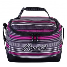 Roots 73 Lunch Box Insulated Cooler Pink Stripes