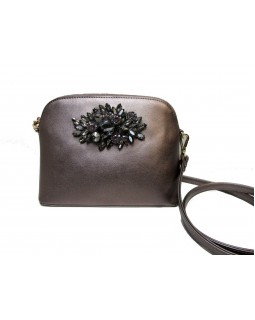 KGB Studio Small Crossbody Bag with Brooch Pewter