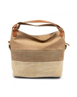 KGB Shoulder Handbag Alisia Convertable Crossbody Naturel Multi
