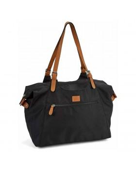 Roots 73 Nylon Shoulder Handbag Black
