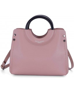 David Jones Handbag Satchel Convertable Crossbody Dusty Rose