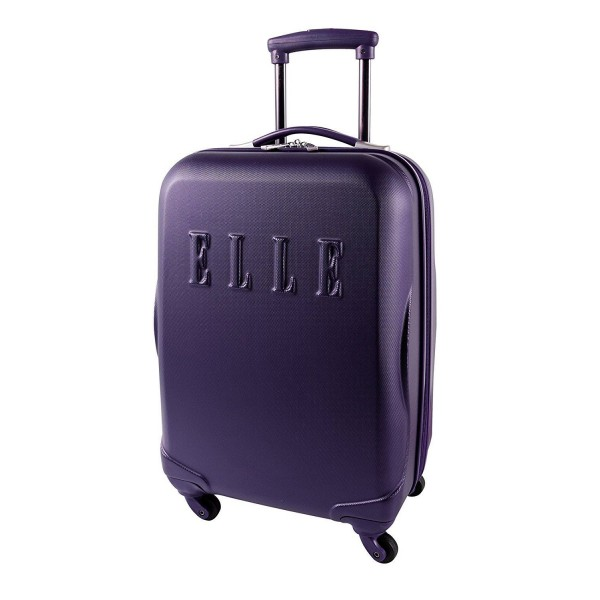 """ELLE 20"""" Carry-On Luggage Purple"""