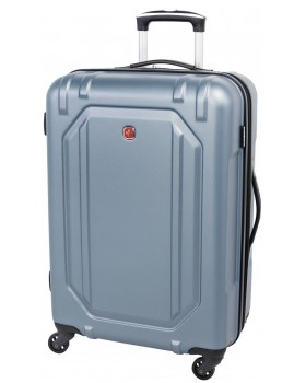 """Swiss Gear 24"""" Spinner Expandable Luggage Escapade 3 Light Blue"""