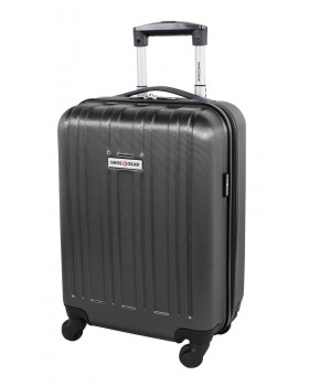 """Swiss Gear 20"""" Spinner Carry-On Luggage Travelite Dark Charcoal"""
