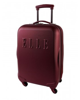 """ELLE 20"""" Carry-On Luggage Oxblood"""