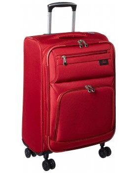 """Skyway 21"""" Expandable Spinner Carry-On Luggage Sigma 5.0 Merlot Red"""