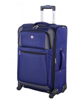 "Swiss Gear Torrent 20"" Carry On Luggage Spinner Blue / Grey"