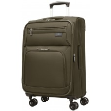 "Skyway 21"" Expandable Spinner Carry-On Luggage Sigma 5.0 Forest Green"