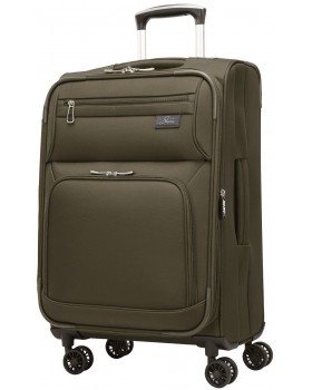 """Skyway 21"""" Expandable Spinner Carry-On Luggage Sigma 5.0 Forest Green"""