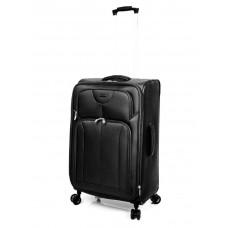 "Ricardo Beverly Hills 24"" Expandable Spinner Luggage Newport Black"