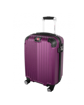 "Swiss Gear St. Moritz 2 20"" Spinner Carry-On Luggage Purple"