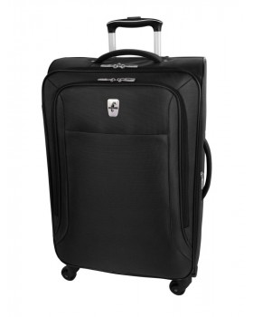 "Atlantic Optima 24"" Spinner Expandable Luggage Black"