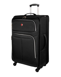 "Swiss Gear Light Flyer 28"" Spinner Expandable Luggage Black"