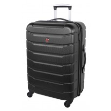 """Swiss Gear 24"""" Spinner Expandable Luggage Vaiana Black"""