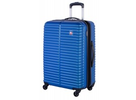 """Swiss Gear 28"""" Spinner Expandable Luggage Monthey Royal Blue"""