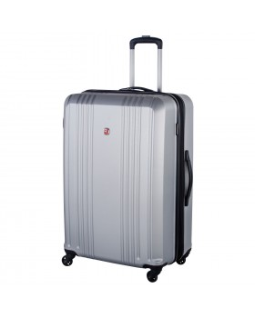 "Swiss Gear 28"" Expandable Hardside Luggage Cristalina Silver"