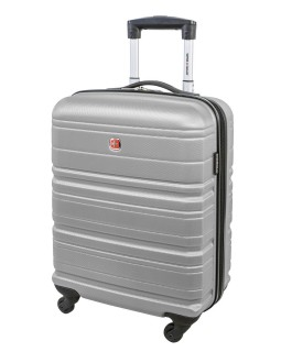"Swiss Gear 20"" Spinner Carry-On Luggage Migration Silver"