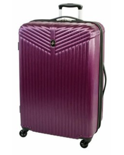 """Atlantic Priority 3 28"""" Spinner Expandable Luggage Purple"""