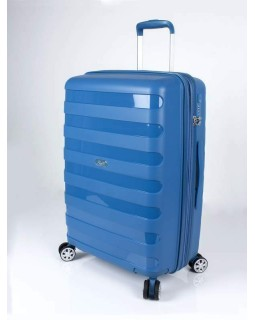 "Rosetti Autumn Breeze 24"" Spinner Expandable Luggage Blue"